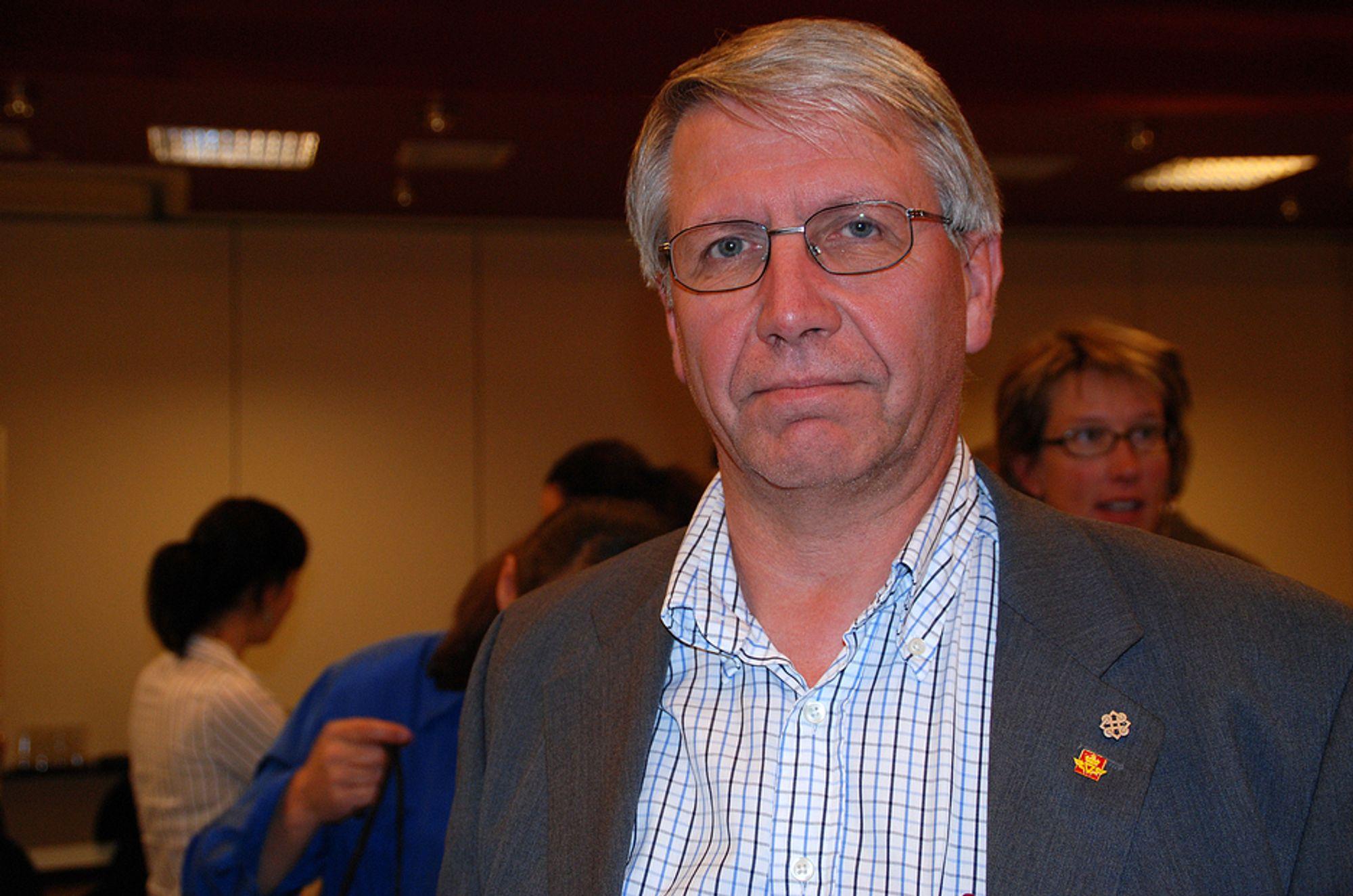 Vegdirektør Terje Moe Gustavsen, Statens Vegvesen. Bilde tatt på Tunneldagene 15. september 2008.