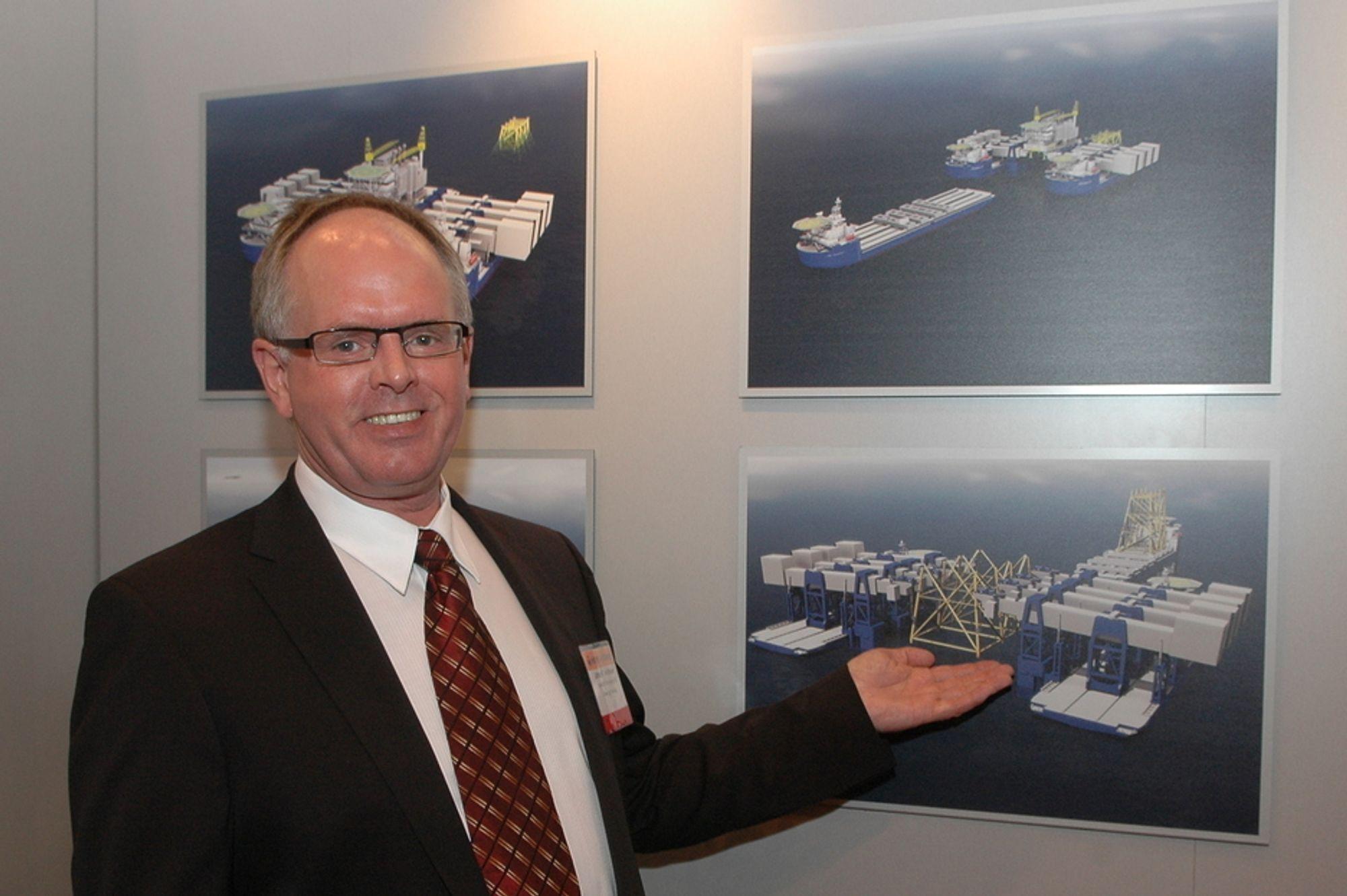 EN HALV MILLIARD: Administrerende direktør Johan F. Andresen er på jakt etter 100 millioner dollar, eller en halv milliard kroner for å sikre finansieringen av de tre løftefartøyene.