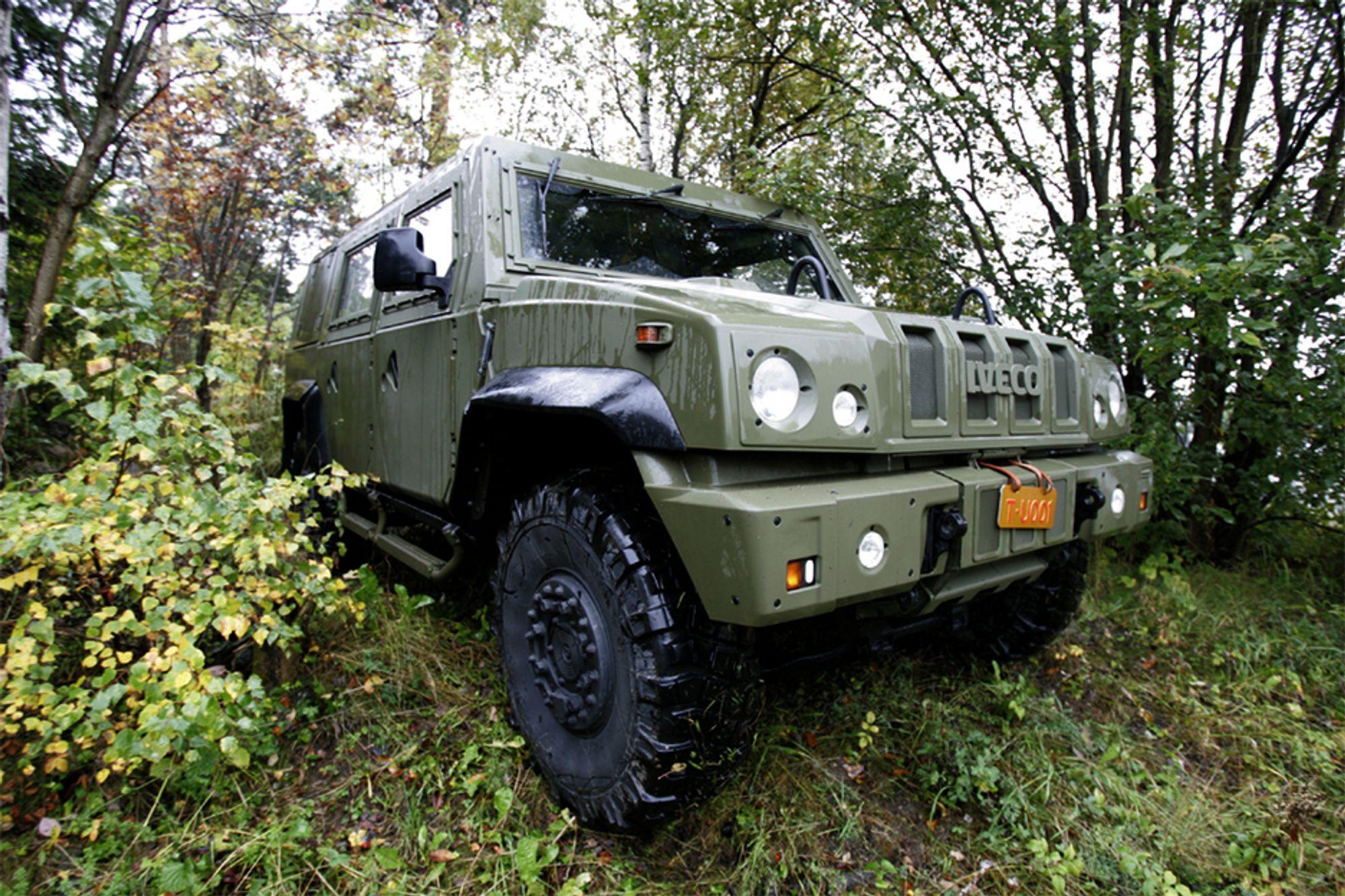 Iveco-kjøretøyene ser bra ut i norske skoger, men er dårligere tilpasset afghanske forhold.