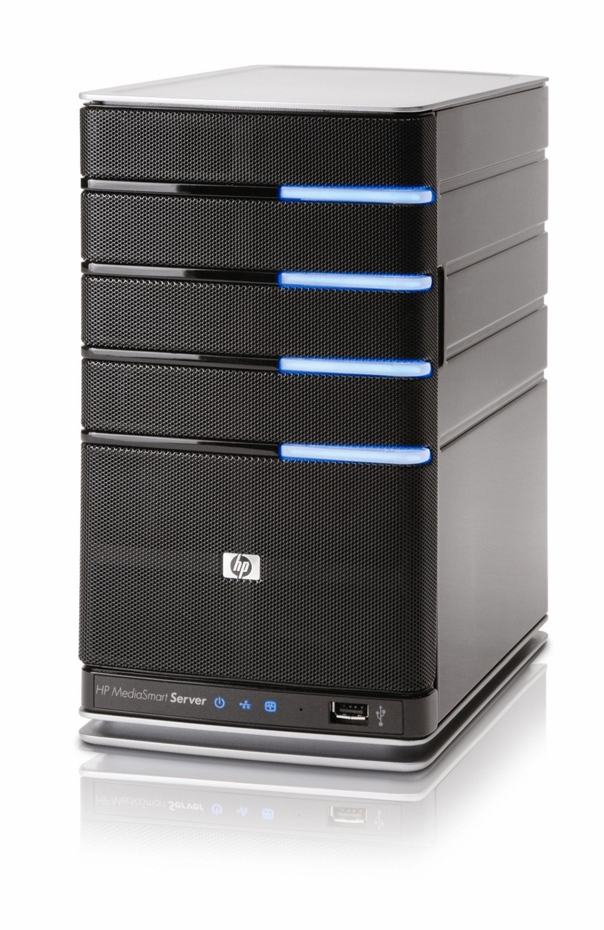 BOKSVIN: HPs nye hjemmeserver er litt større enn en vinkartong, men sikrer deg mot digital bakkrus.