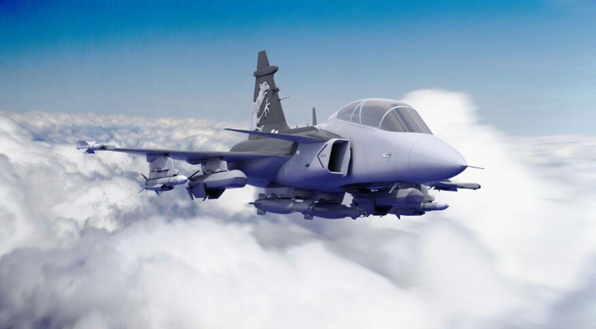 Neste generasjon JAS Gripen skal utstyres med forbedret radarteknologi og kommunikasjonsutstyr der norske Thales bidrar.