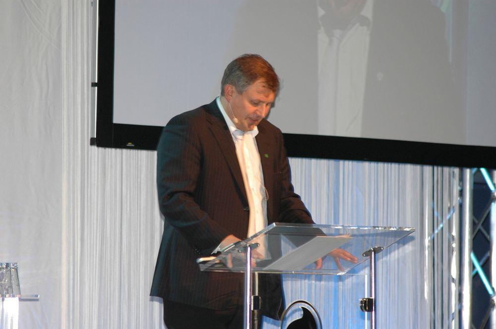 Riis Johansen på OLFs årskonferanse.