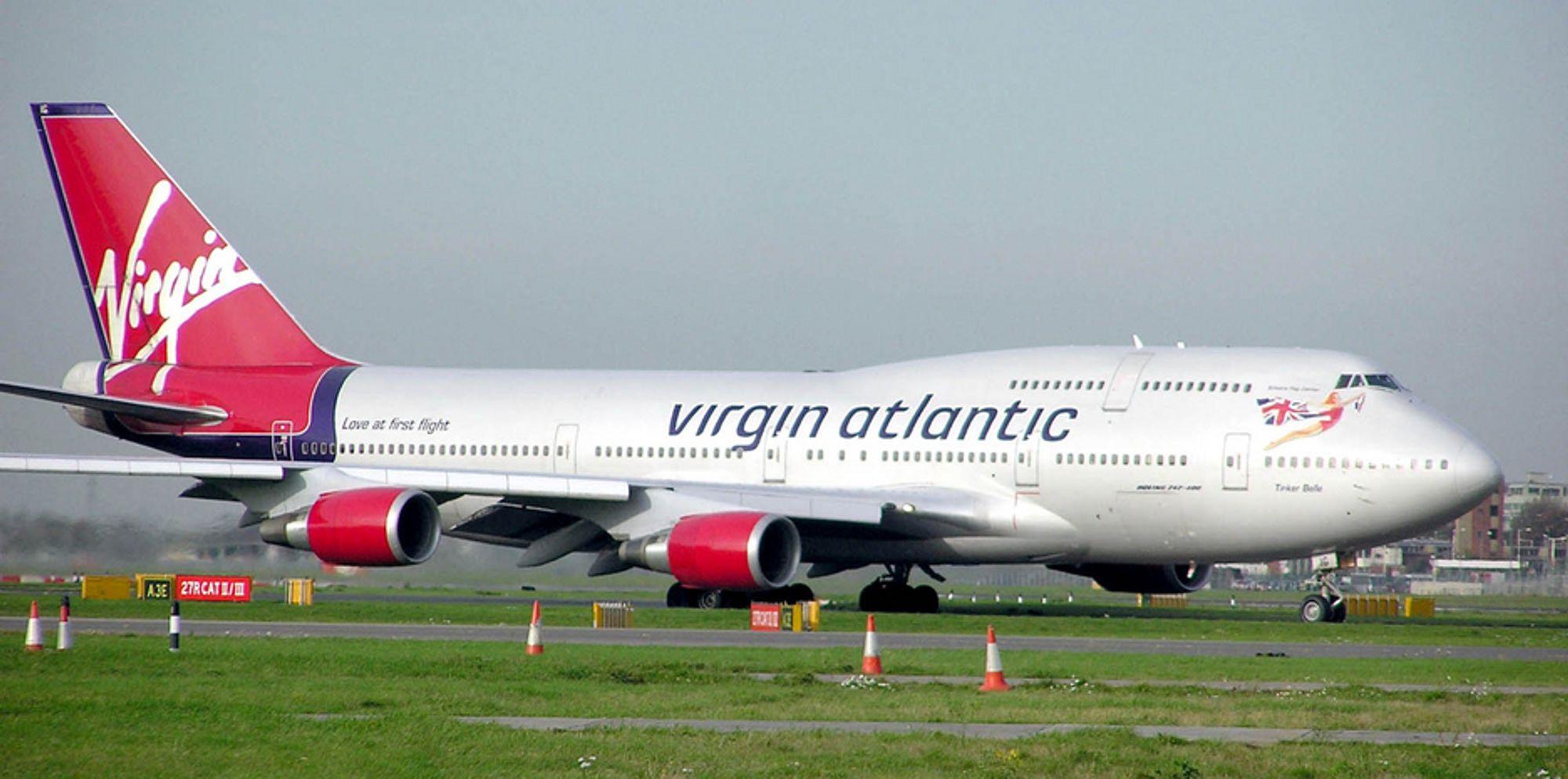 Et Boeing 747 fra Virgin Atlantic skal i februar testfly med biodrivstoff.