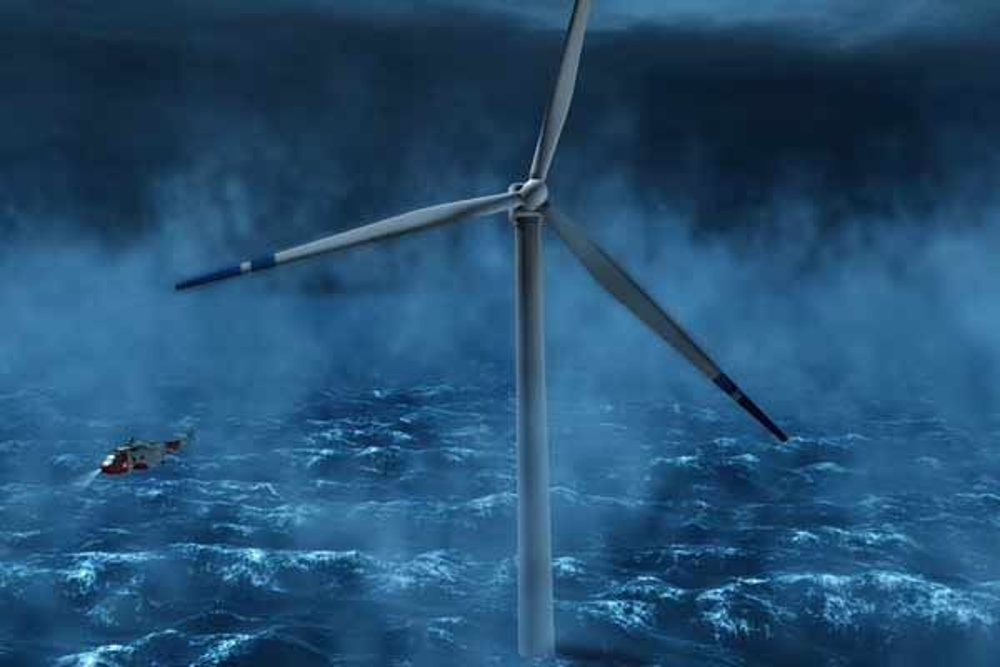KAMP MOT KLOKKA: Statoilhydros Hywind blir den første industrielle fullskala demonstrasjonsenheten for flytende vindturbiner. Flere aktører vil utvide Hywinds strømkabel slik at flere umodne teknologier kan testes. Men StatoilHydro har dårlig tid.
