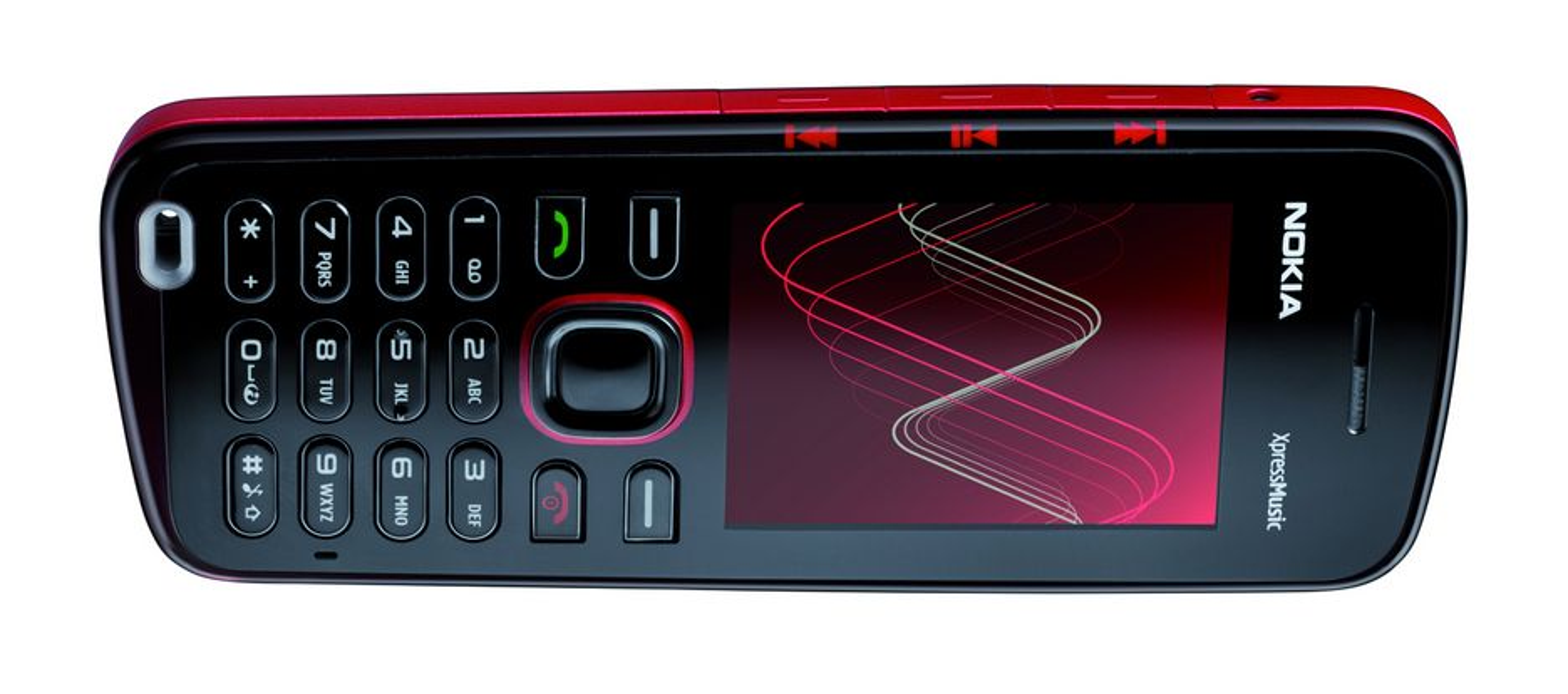 FARGERIK: Slik er Nokia 5220 XpressMusic. Utseendemessig er det lite som skiller denne fra storebroren Nokia 5320 XpressMusic.