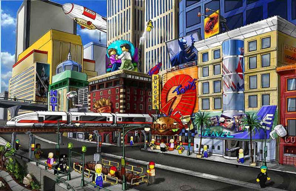 BARNESPILL: Lego vil gi barna et sikkert sted å være med sitt nye onlinespill.