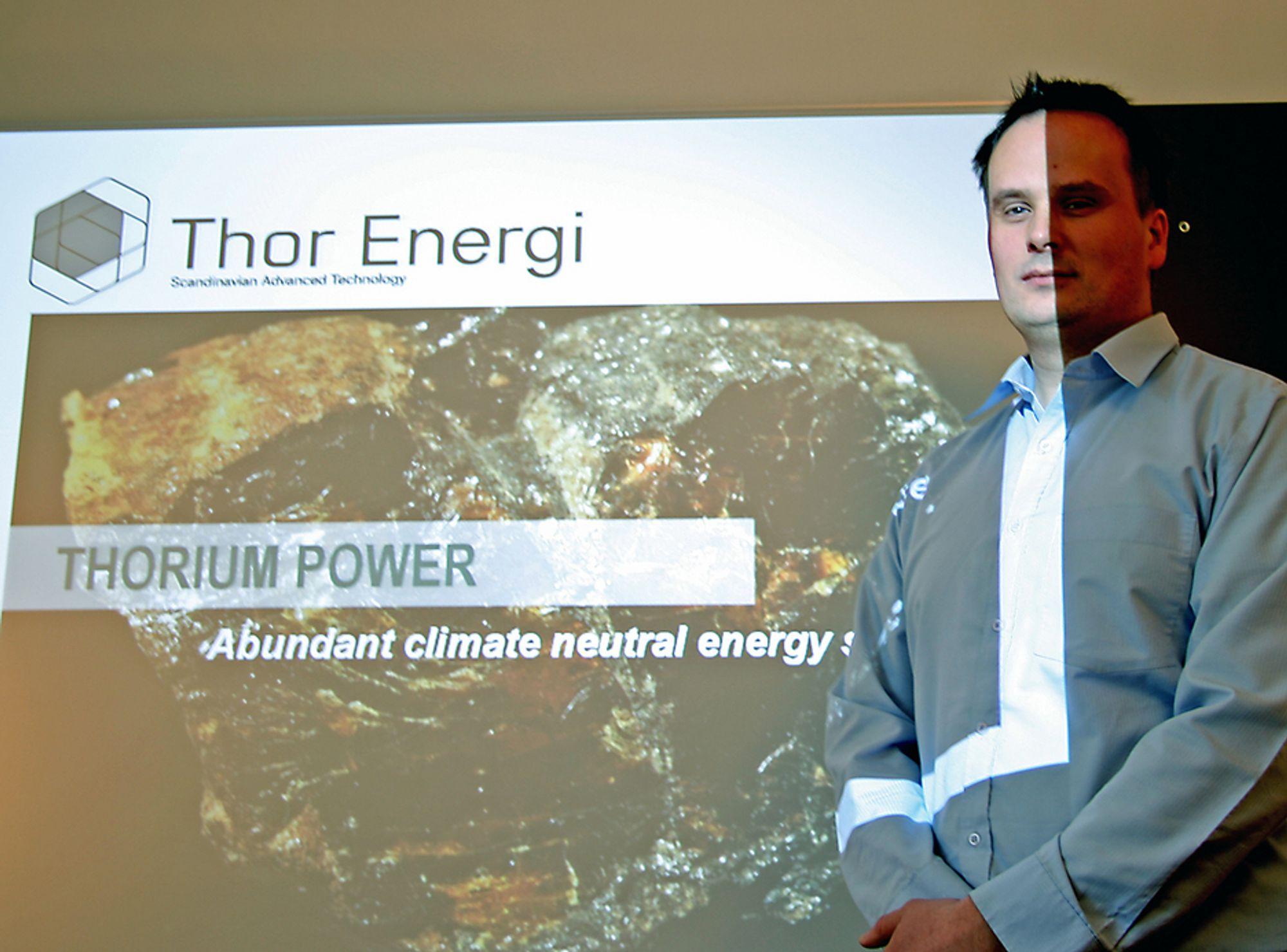 VIL LEVERE TEKNOLOGI: Seniorkonsulent i Scatec som er største eier i Thor Energy, Øystein Asphjell, mener thoriumutvalgets rapport gir et godt grunnlag for å satse videre.