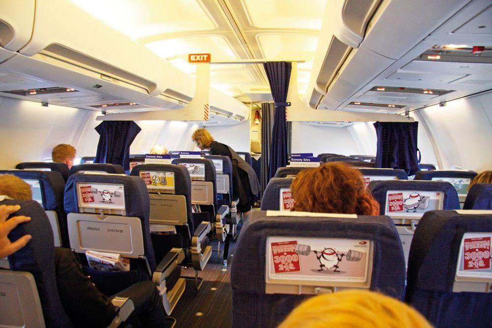 SYKE: Tre passasjerer besvimte i en Boeing 737-700 fra SAS.