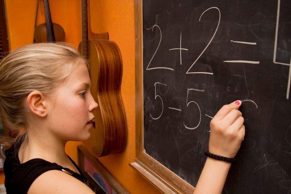Jenter. Matte. Matematikk. Skole.