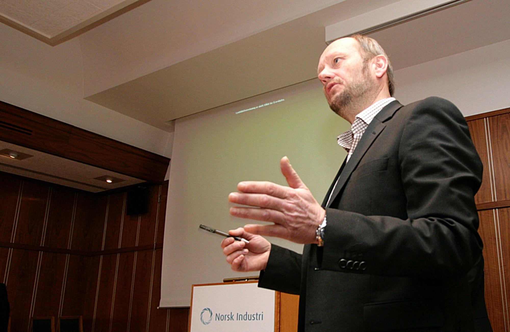 Norsk Industri-direktør Stein Lier-Hansen er langt fra overrasket over at ESA slo ned på den norske klimakvoteloven.