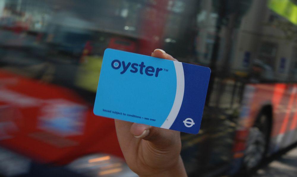 Oyster Card - Londons elektroniske kort for offentlig transport.