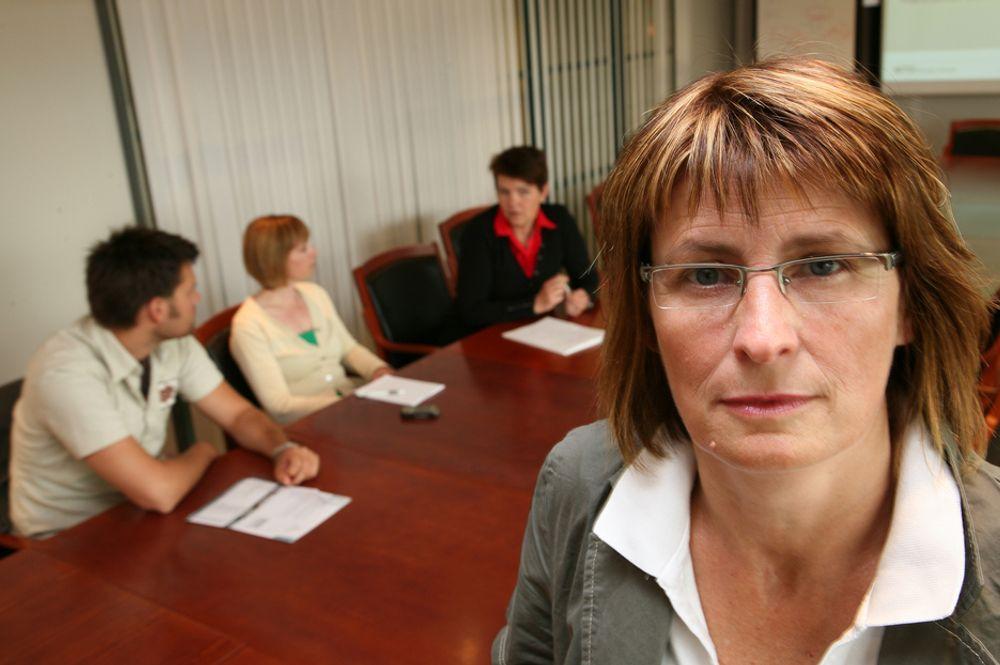 REAGERER: Inger Annie Moe ber staten sørger for mer penger til lønnsbudsjettene.
