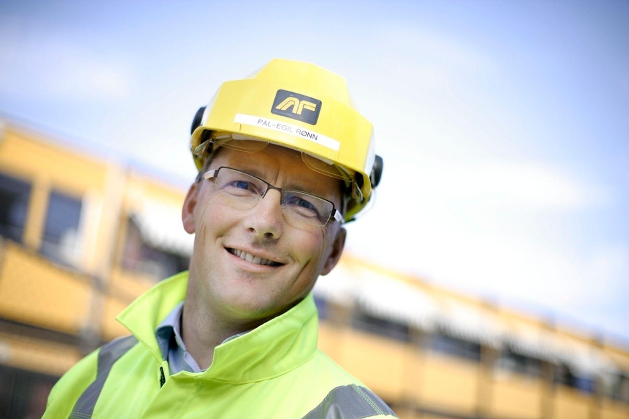 Konsernsjef Pål Egil Rønn i AF Gruppen kan gni seg i hendene. Selskapet ser nemlig ut til å få en ny hundremillionerskontrakt.