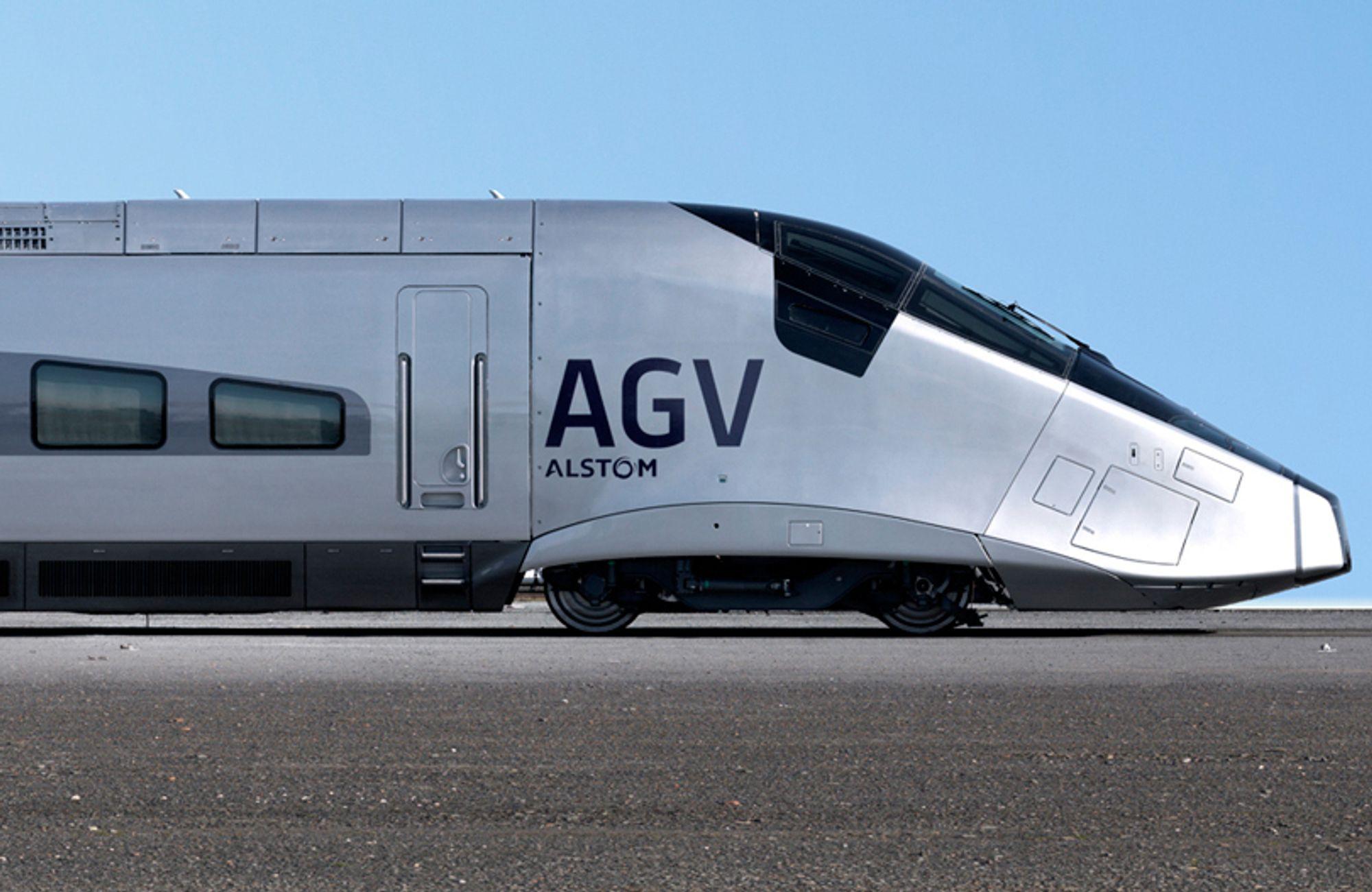 NYTT: Økonomene gir økonomiske argumenter for hurtigtog (her Alstoms AGV).