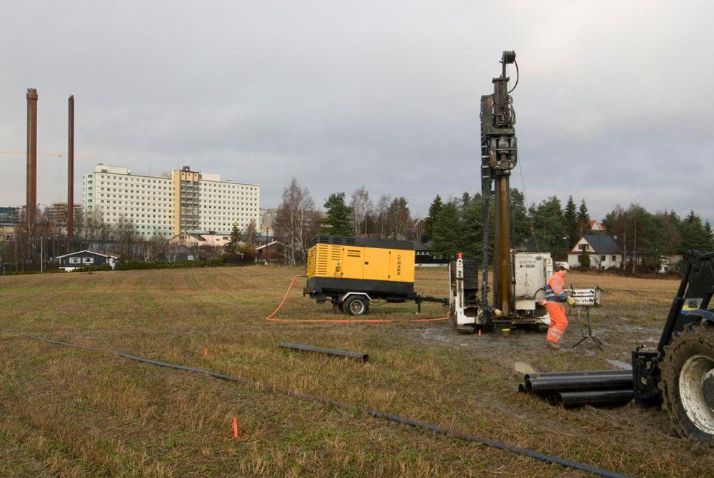 BRØNNENERGI:Både nye A-Hus og Postens nye Østlandsterminal  har valgt brønnparker i stedet for å knutte seg til det lokale fjernvarmenettet.