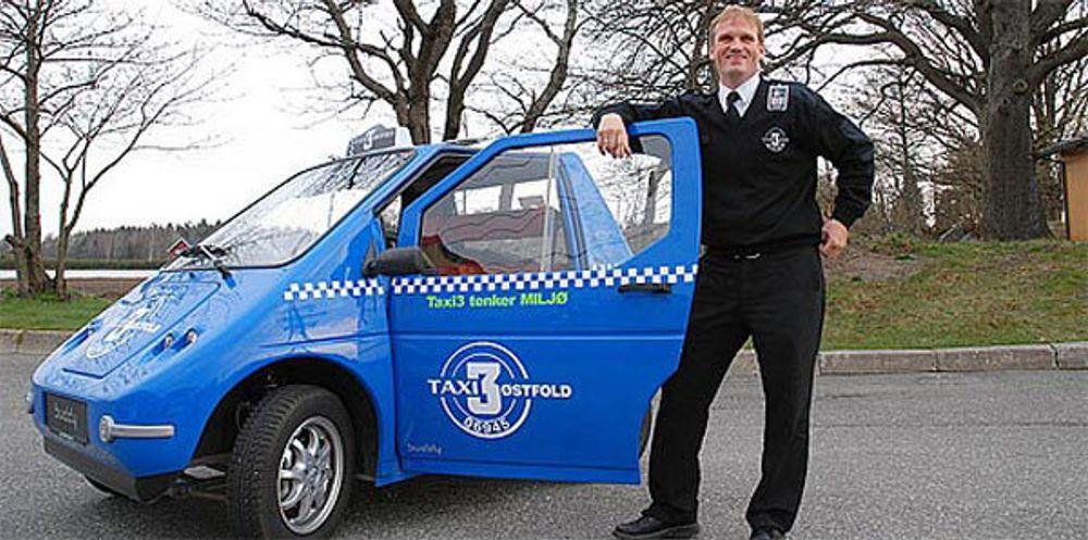Taxi 3 Østfold satte en elektrisk Buddy inn i ordinær drosjetrafikk i tre-fire måneder i vår.