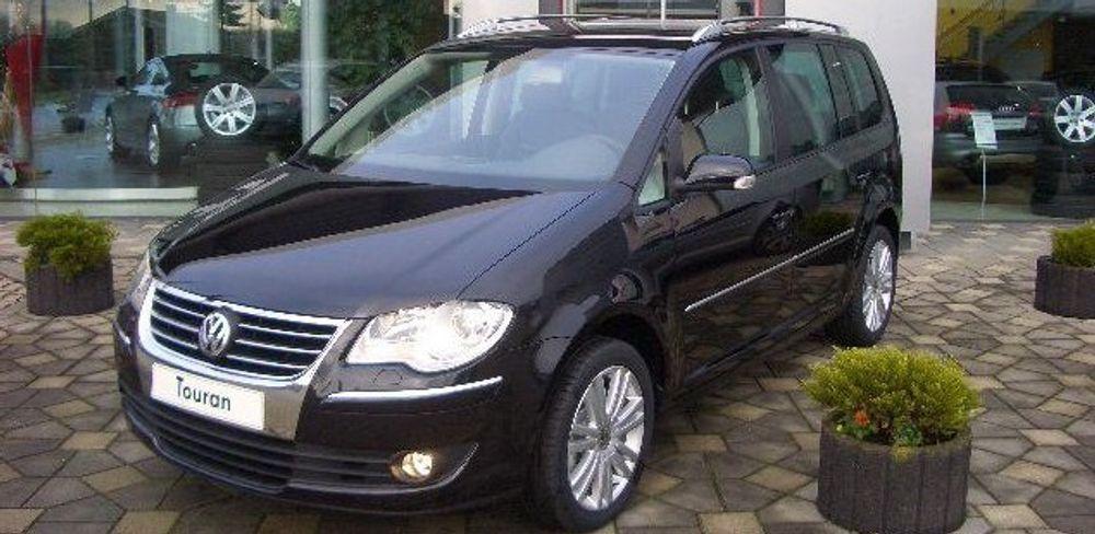 Denne VW Touran fra 2007 inneholder dobbelt så mye plastavfall som en VW Passat fra 1988.