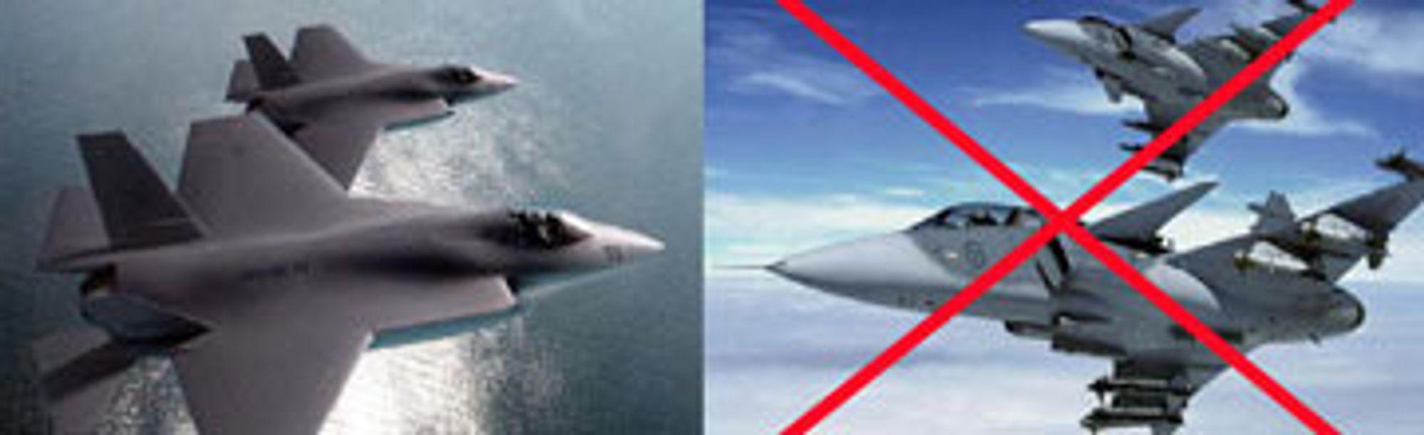 FORHÅNDSDØMT: At F-35 ble valg lå i kortene allerede fra modten av 1990-tallet.