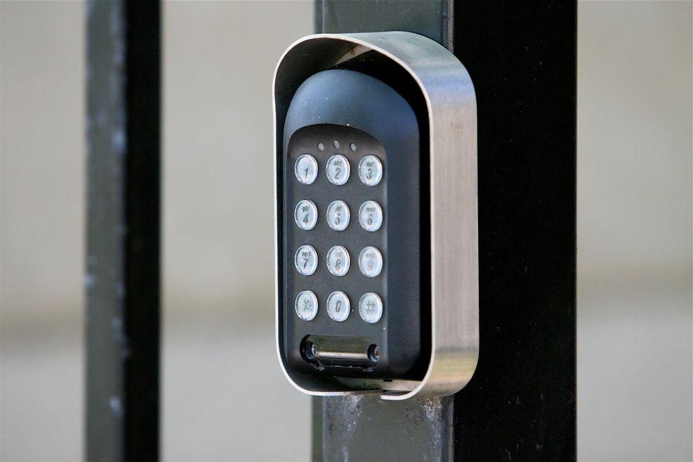 Elektronisk lås. Adgangskontroll.