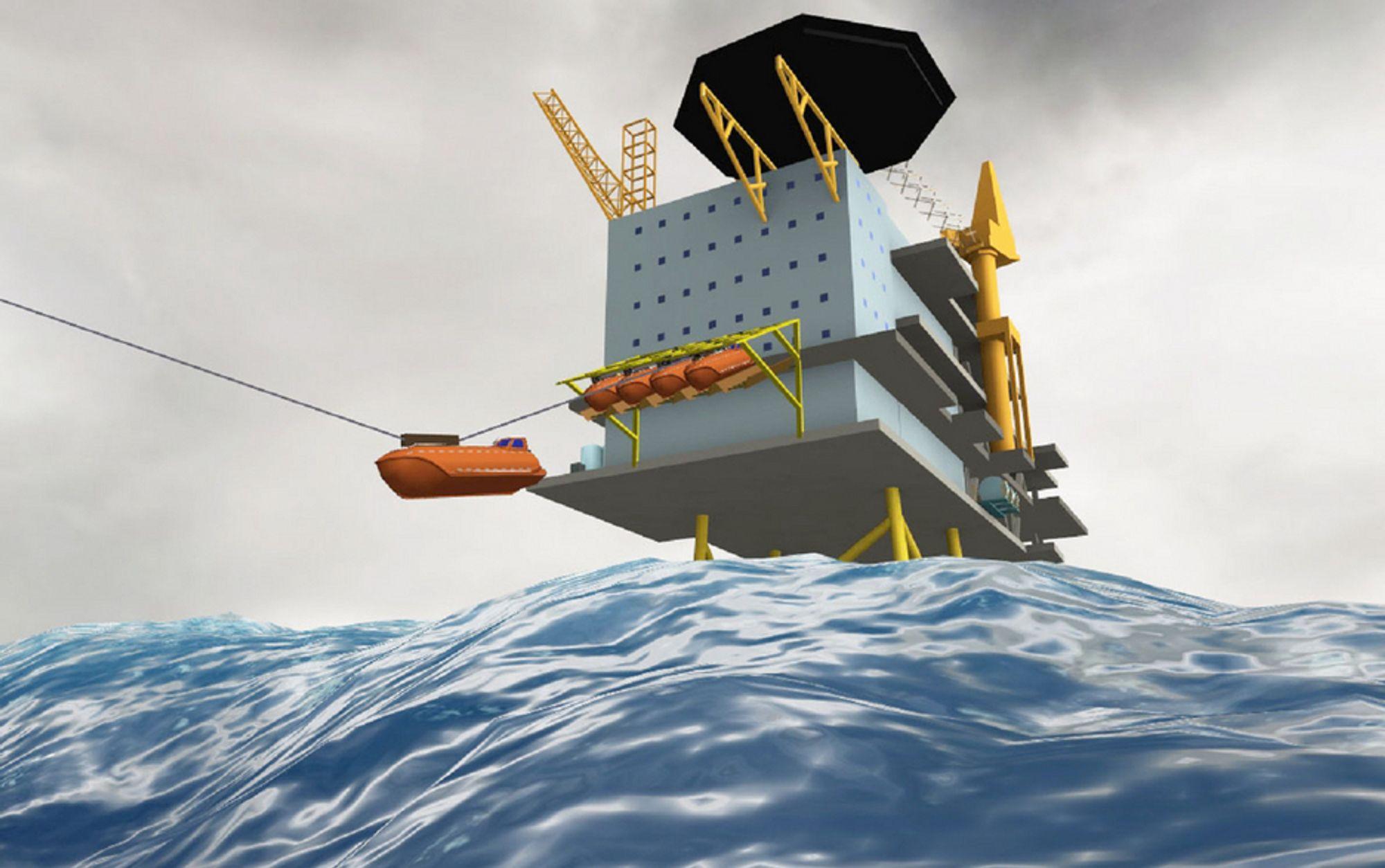 HASTIGHET: Utsettingshastigheten er valgfri, og kan på designstadiet tilpasses mellom 0,5 og 10 m/s. I vannet får båtene en maksimal framdrift på mellom tre og ti m/s.