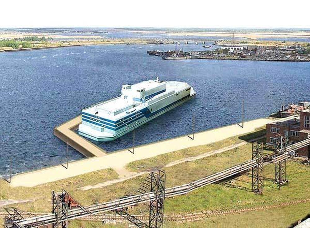 - MÅ SI NEI: Russerne vil bygge et atomkraftverk på en 20.000 tonns lekter på 140 x 30 meter. Bellona mener norske myndigheter bør ta avstand fra Shtokman-prosjektet, dersom gassfeltet skal drives med atomkraft.