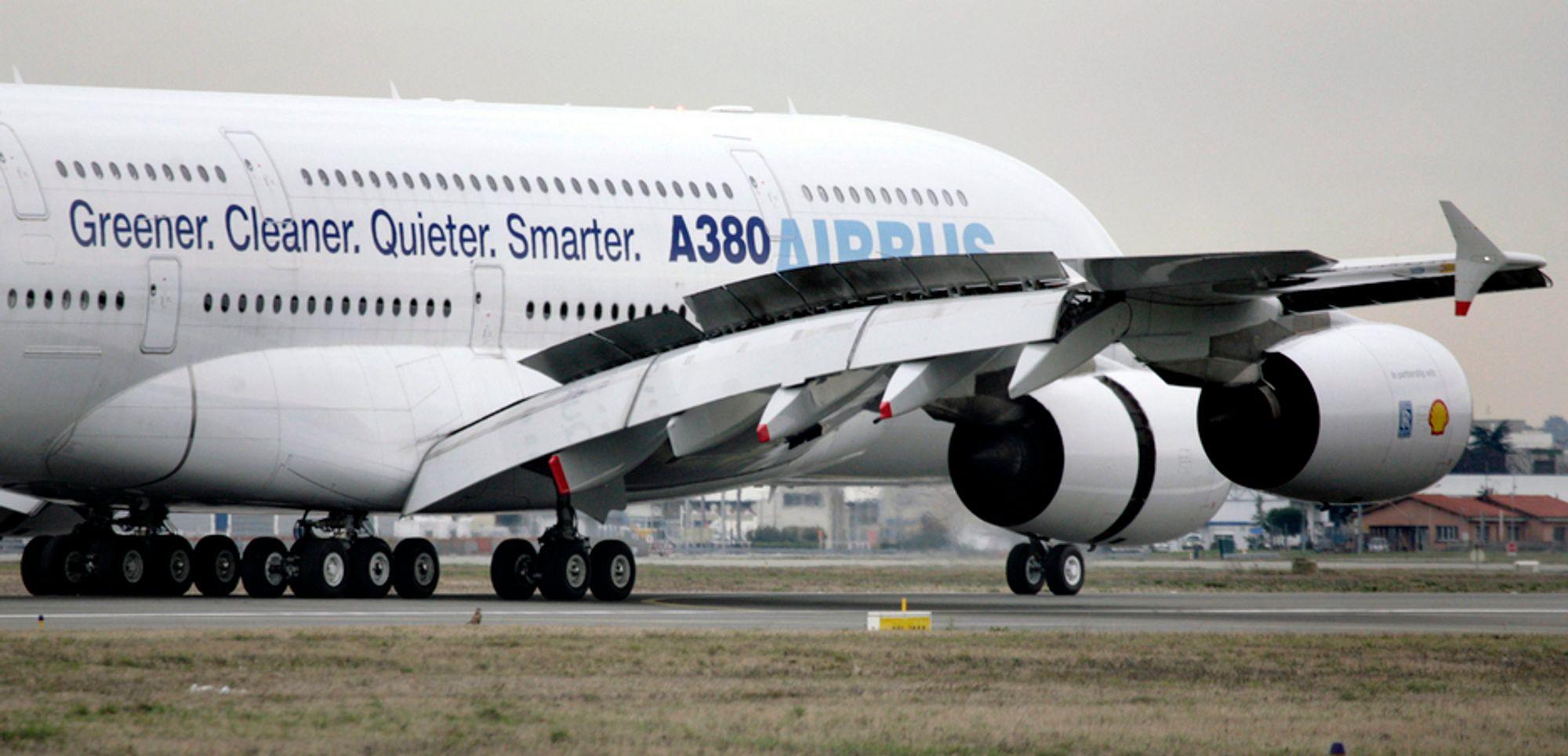 1. februar fløy Airbus et gassdrevet A380. Nå går selskapet sammen med resten av luftfarten i Europa for å jobbe fram ny og mer miljøvennlig teknologi.
