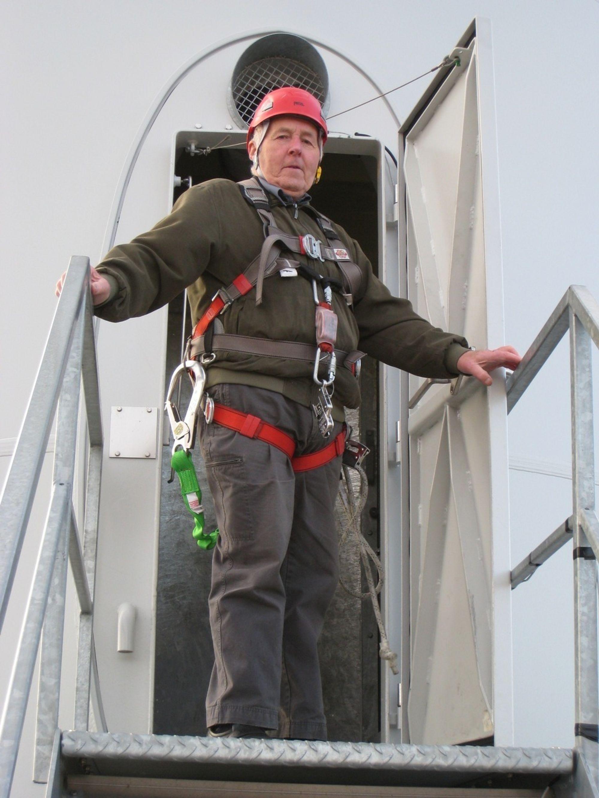 Notis: Til topps i vindmølle