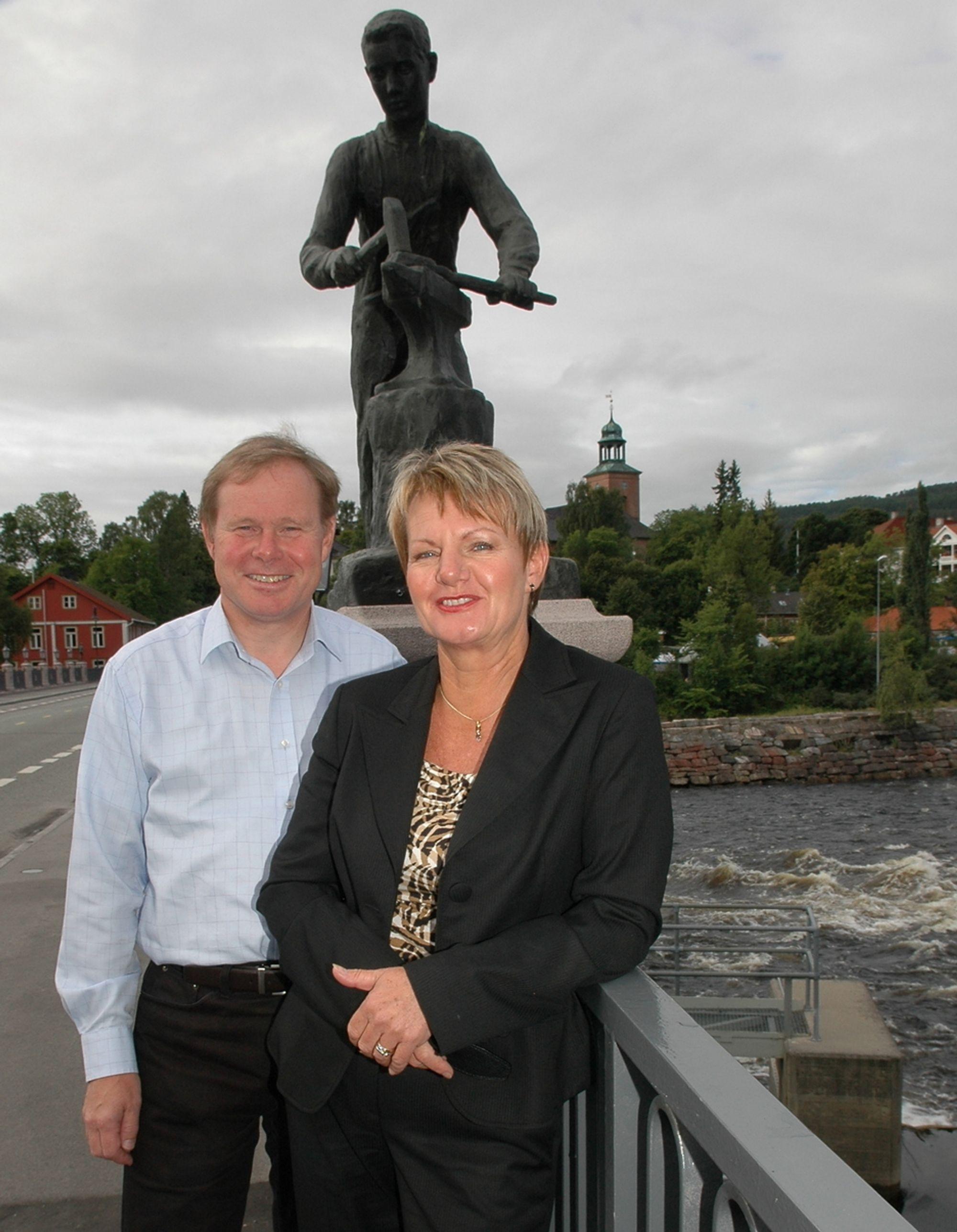 NY TREND: Markedssjef Bernt Isachsen og leder av Kongsberg Handelskammer ønsker alle velkommen til Teknologidagene på Kongsber i Norvember. Et av hovedtemaene blir tekniske trender.