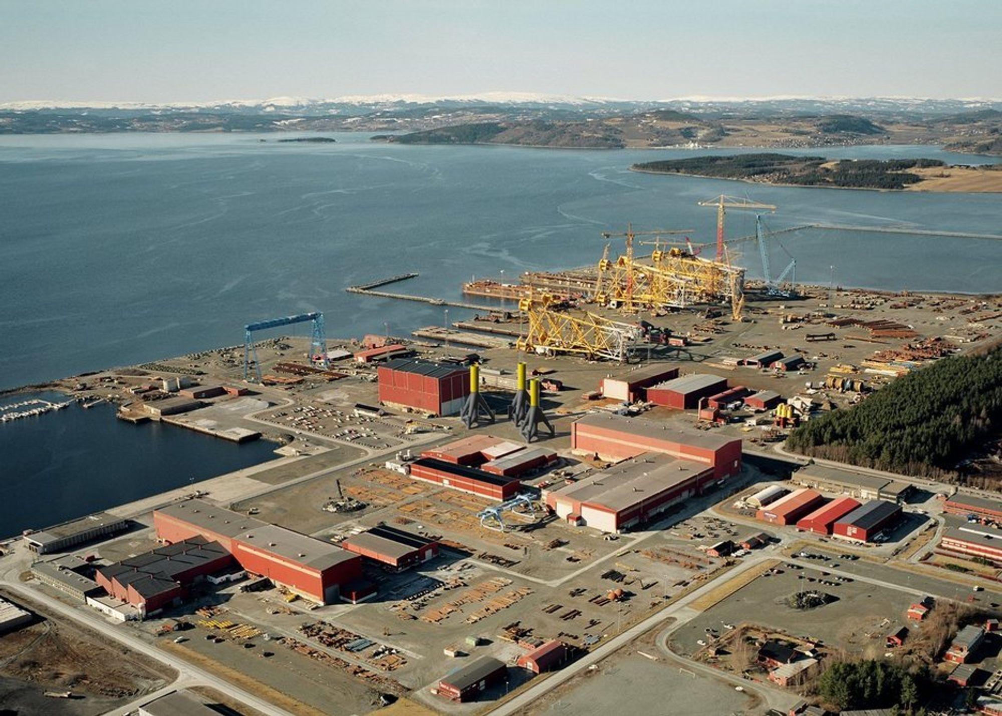Aker Verdal holder til i Verdal Industripark, der Delprodukt nå skal etablere seg. Begge satser på offshore vind.