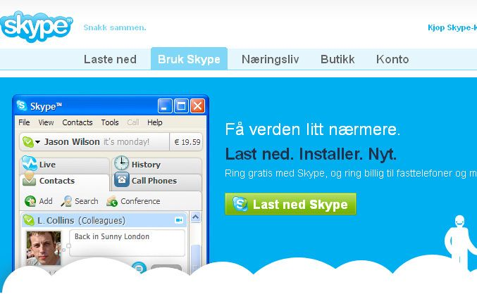 Ukens gratisprogram: Skype