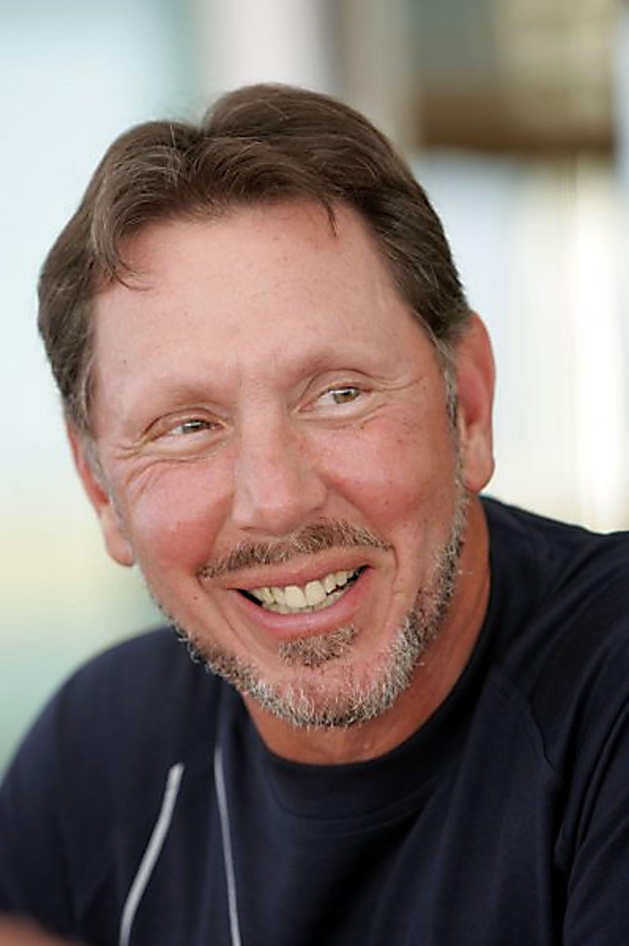 STØRRE: Oraclesjefen Larry Ellison kan smykke seg med nok en nummer en-posisjon etter kjøpet av BEA
