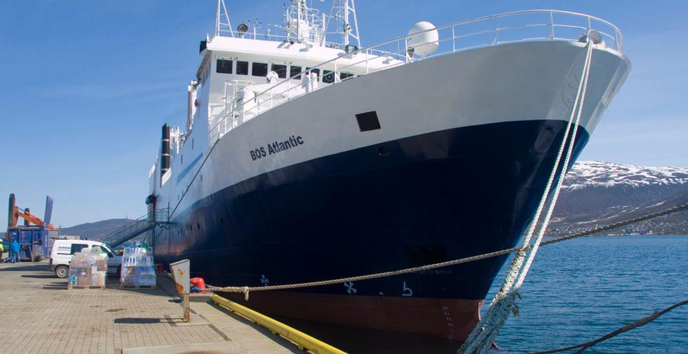 """Det blir nye undersøkelser i nord neste år for seismikkskipet """"BOS Atlantic"""" som i sommer gjennomførte de omstridte seismikkundersøkelsene utenfor Lofoten og Vesterålen på vegne av Oljedirektoratet."""