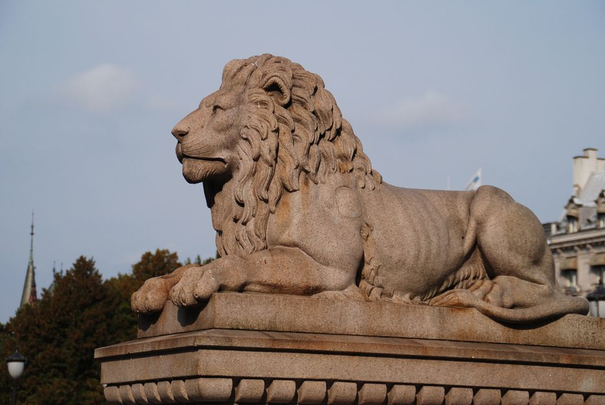 Løve på Løvebakken.