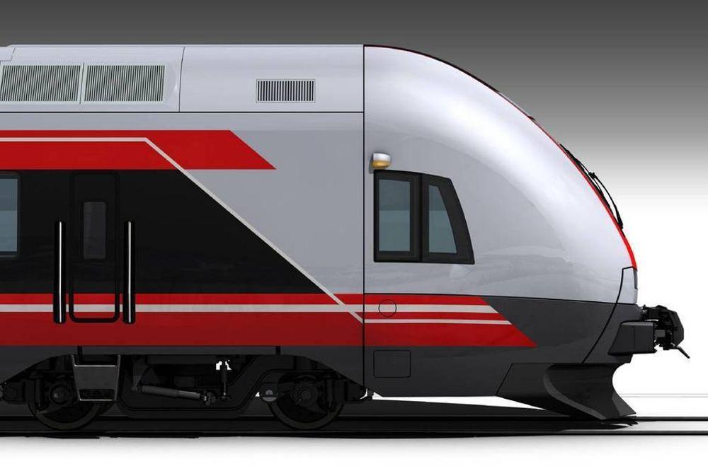 FLIRT FRA SIDEN: Slik ser det nye toget ut fra siden.