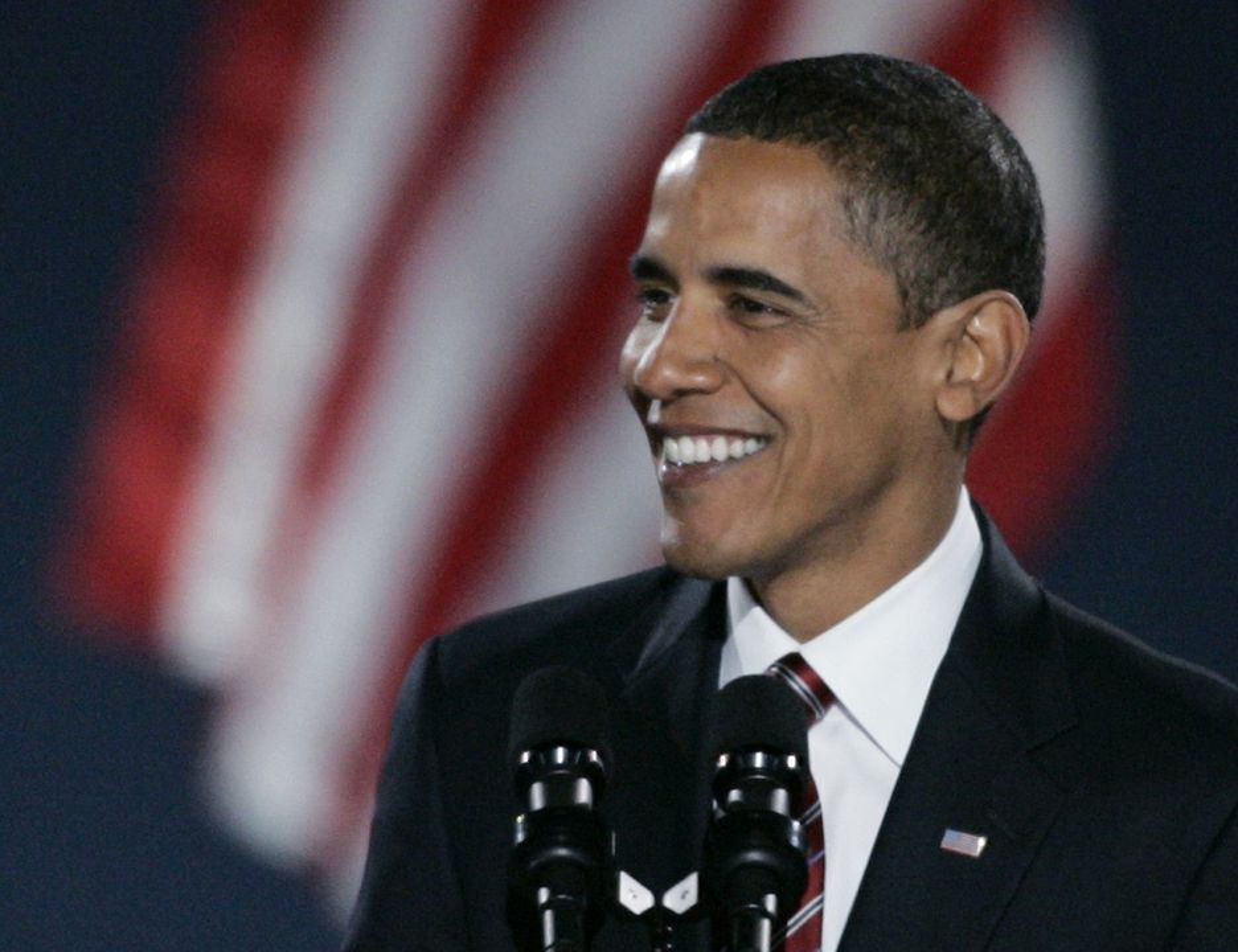 USAs 44. president, Barack Obama. Valgt 5. november 2008, etter å ha knust John McCain i et valg med historisk deltakelsesprosent.
