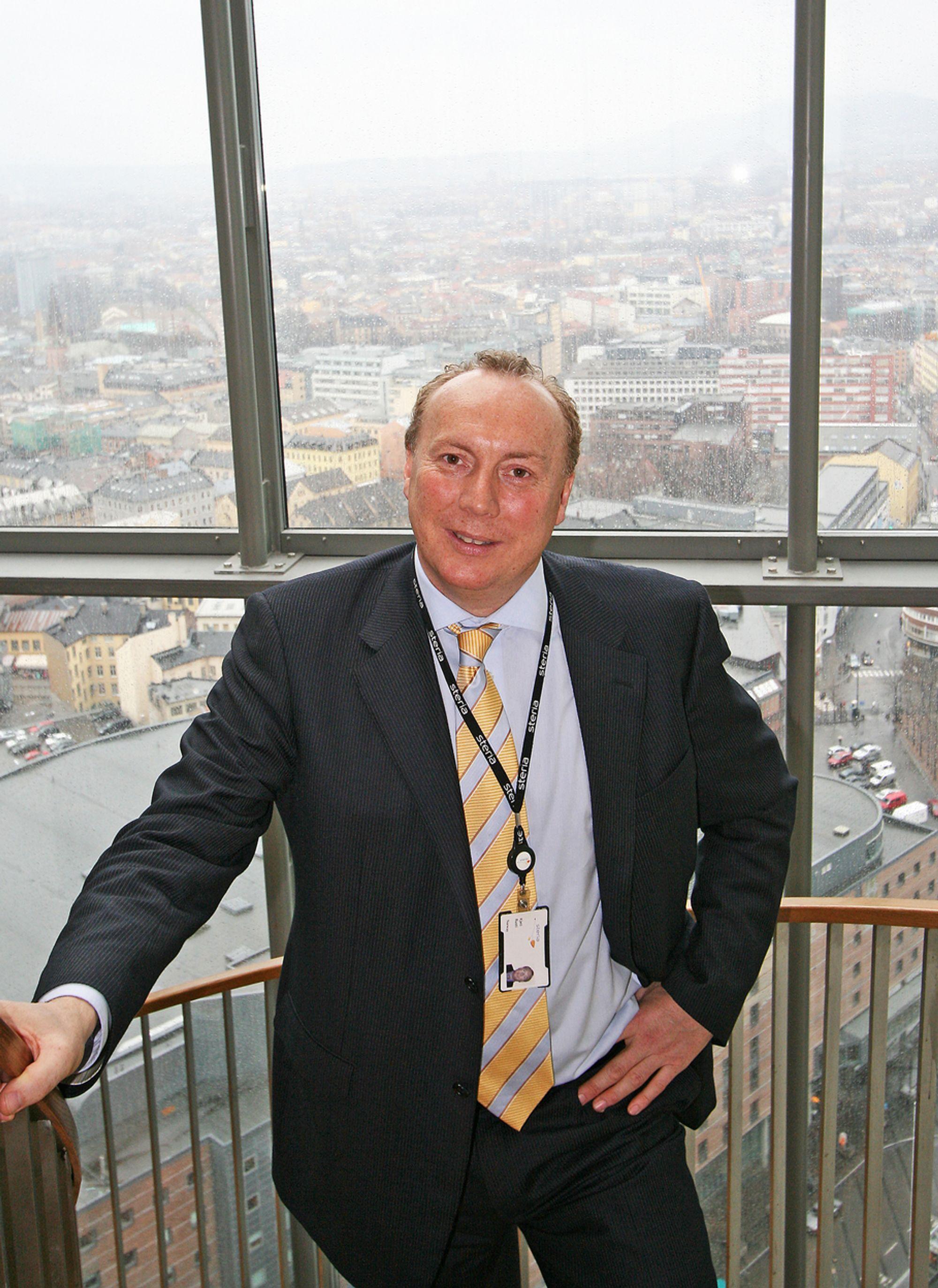 OPPGANG: Steriasjef, Kjell Rusti, melder om oppgang i et marked som skriker etter flere konsulenter.