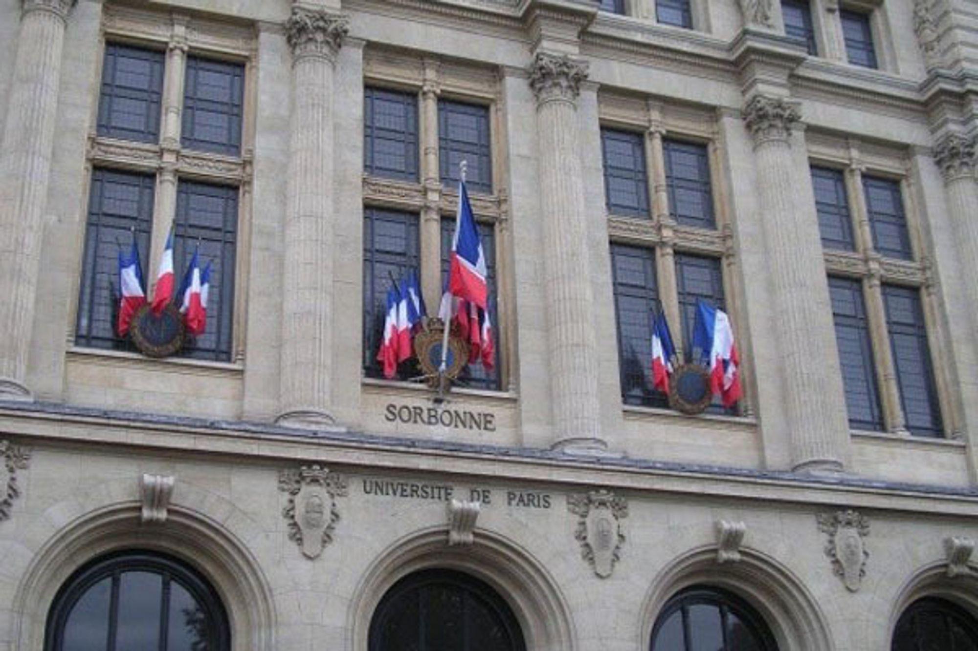 Univeristetet Sorbonne i Paris.