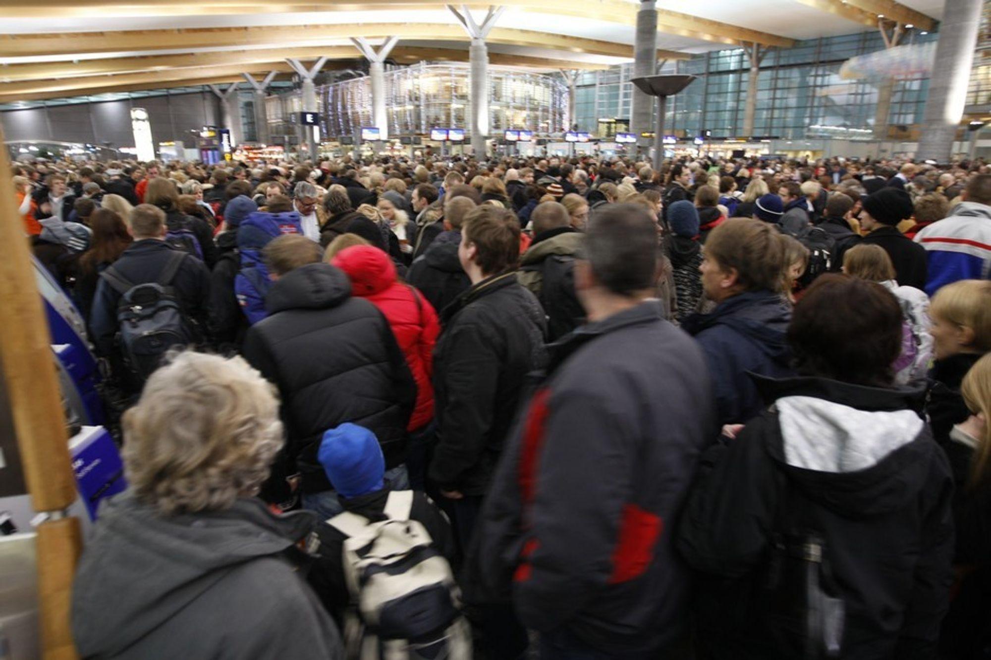 Før jul var det store forsinkelser og kaotiske tilstander inne i terminalen på Oslo lufthavn Gardermoen. Om fire år skal kapasiteten være nær doblet.