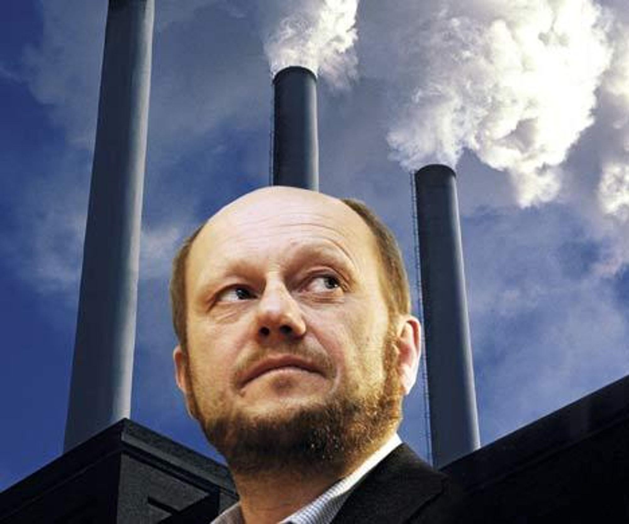 Administrerende direktør i Norsk Industri, Stein Lier Hansen, frykter at Norhge ikke blir med i EUs klimakvoteprogram. Fotomontasje: Simen Håkonsen