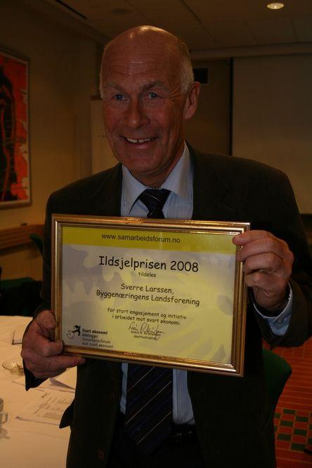 KJEMPER: Sverre Larssen har kjempet mot svart arbeid i en årrekke, nå kommer anerkjennelsen i form av Ildsjelprisen.