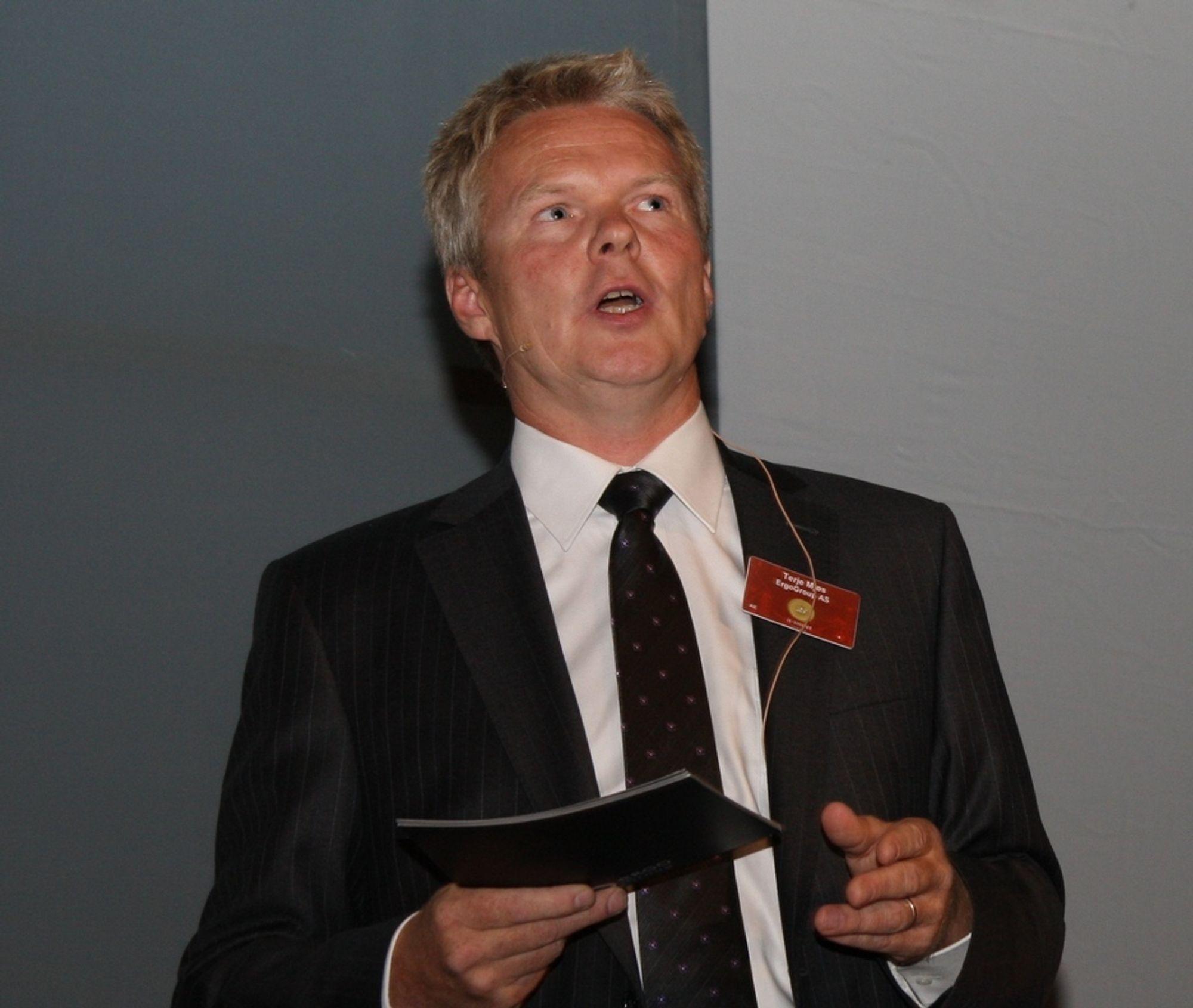 Administrerende direktør Terje Mjøs i Ergo Group.