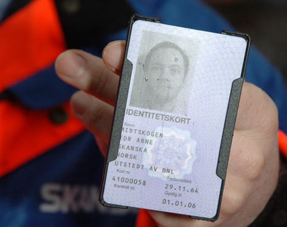 UTEN VERDI: Reglene Bondevik II-regjeringen foreslo, ville gitt ID-kort uten verdi. Her et kort fra et pilotprosjekt, slik næringen selv vil ha det.