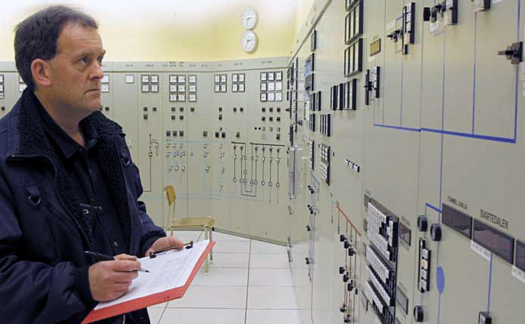 Dette kontrollrommet på Mauranger kraftstasjon skal fornyes i løpet av neste år.