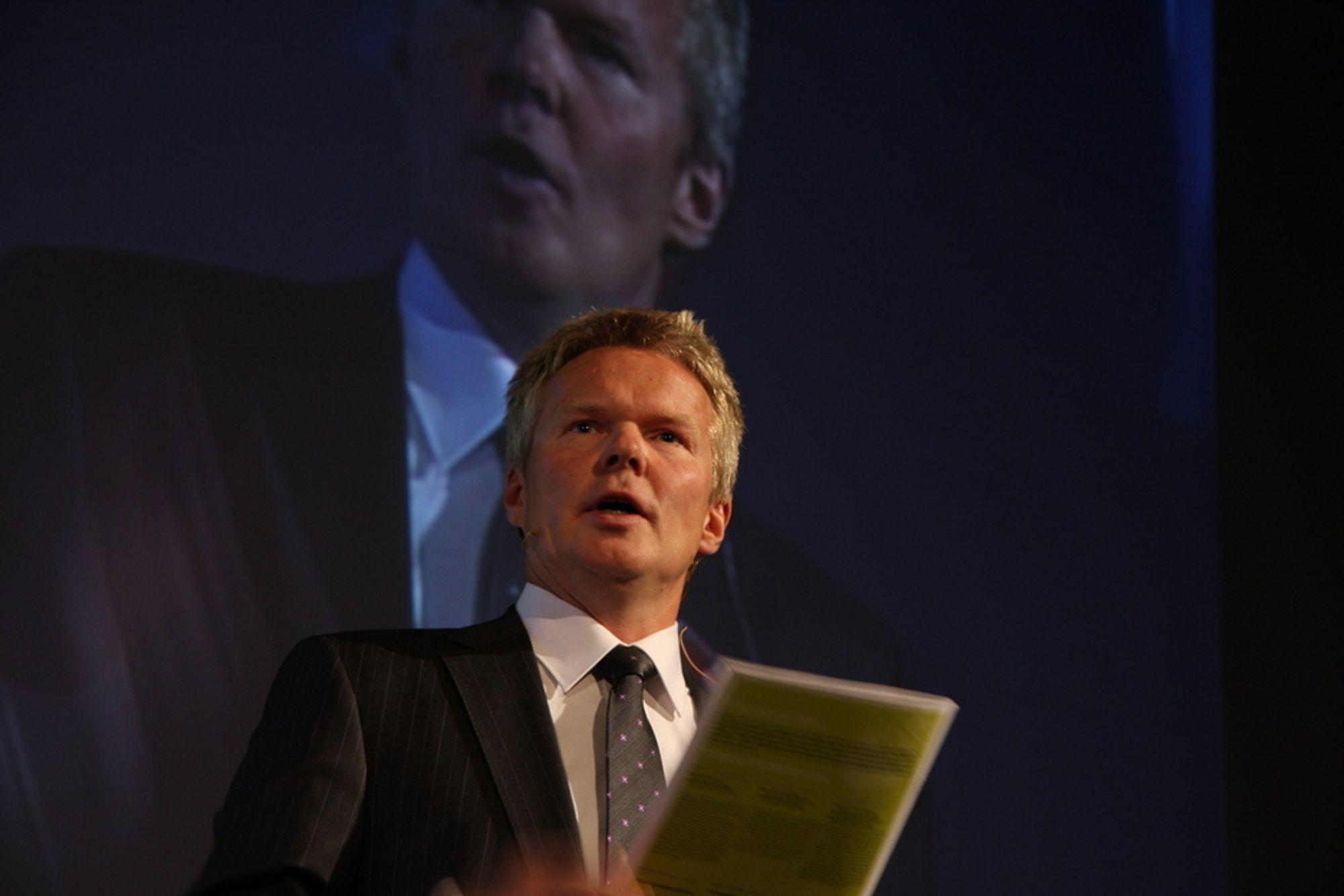 Ergo-sjef Terje Mjøs åpnet jubileums-tinget med å slå fast at festen er over.