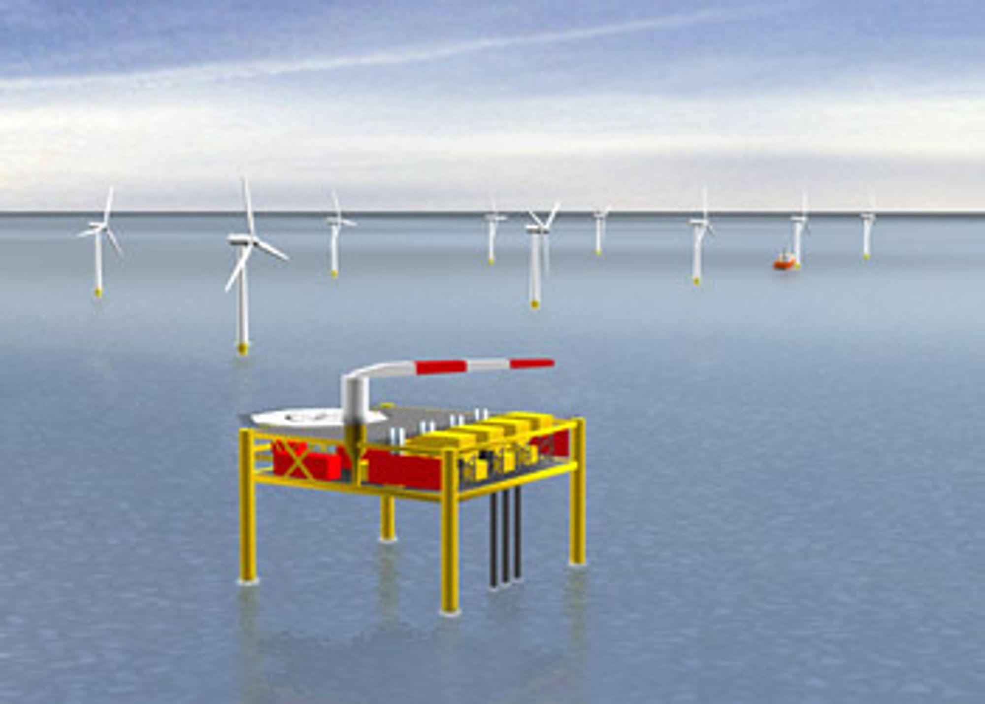 FØRSTE GASS- OG VINDHYBRID: Britiske Eclipse Energy Company Ltd vil bruke gass kombinert med vindkraft - vindkraft alene gir ingen jevn energiproduksjon.