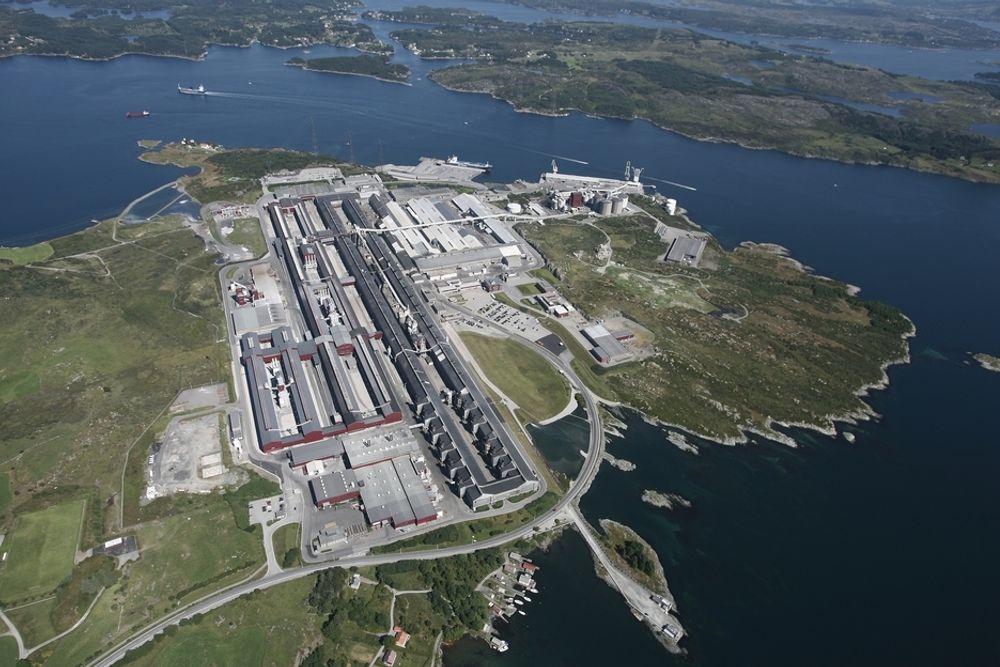 Hydro kutter i produksjonen ved aluminiumsanlegget på Karmøy.