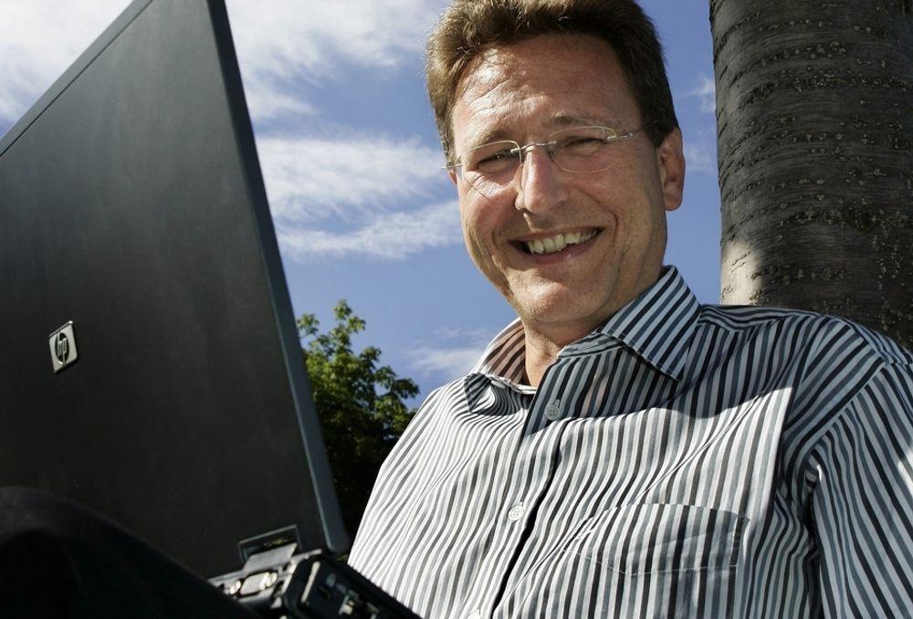 ØKER. Matthias Peter og Ice.net har nå 25 000 kunder på mobilt bredbånd.