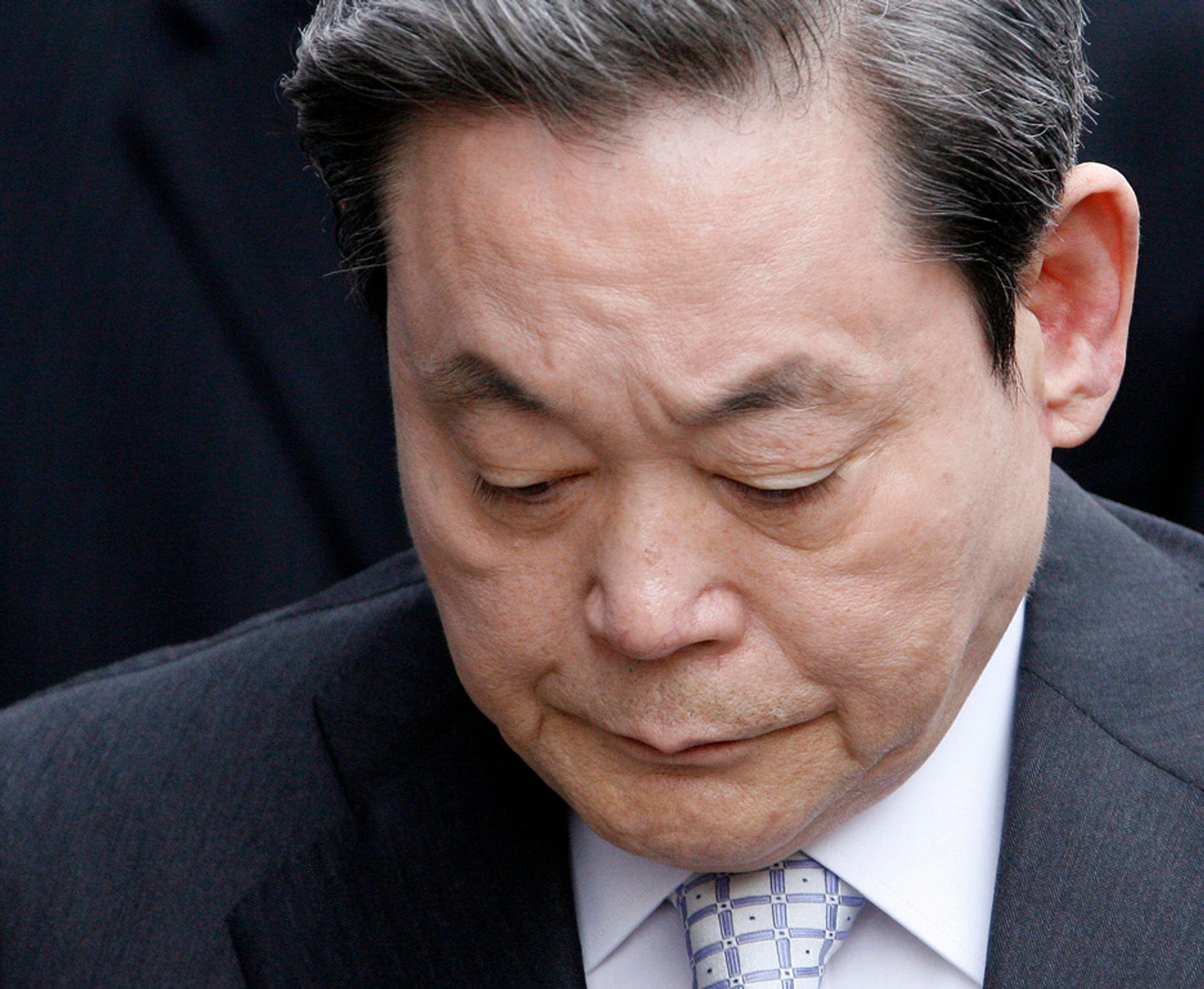 Samsung-sjef Lee Kun-hee må forklare seg. Han har så langt avvist alle beskyldninger om skattesvindel og økonomisk utroskap.