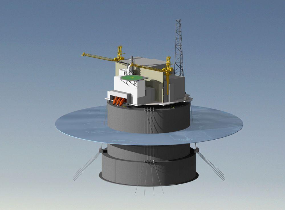 Aker Solutions plattformskonsept for Goliat, Mono Floater, skal bygges i betong i Norge.
