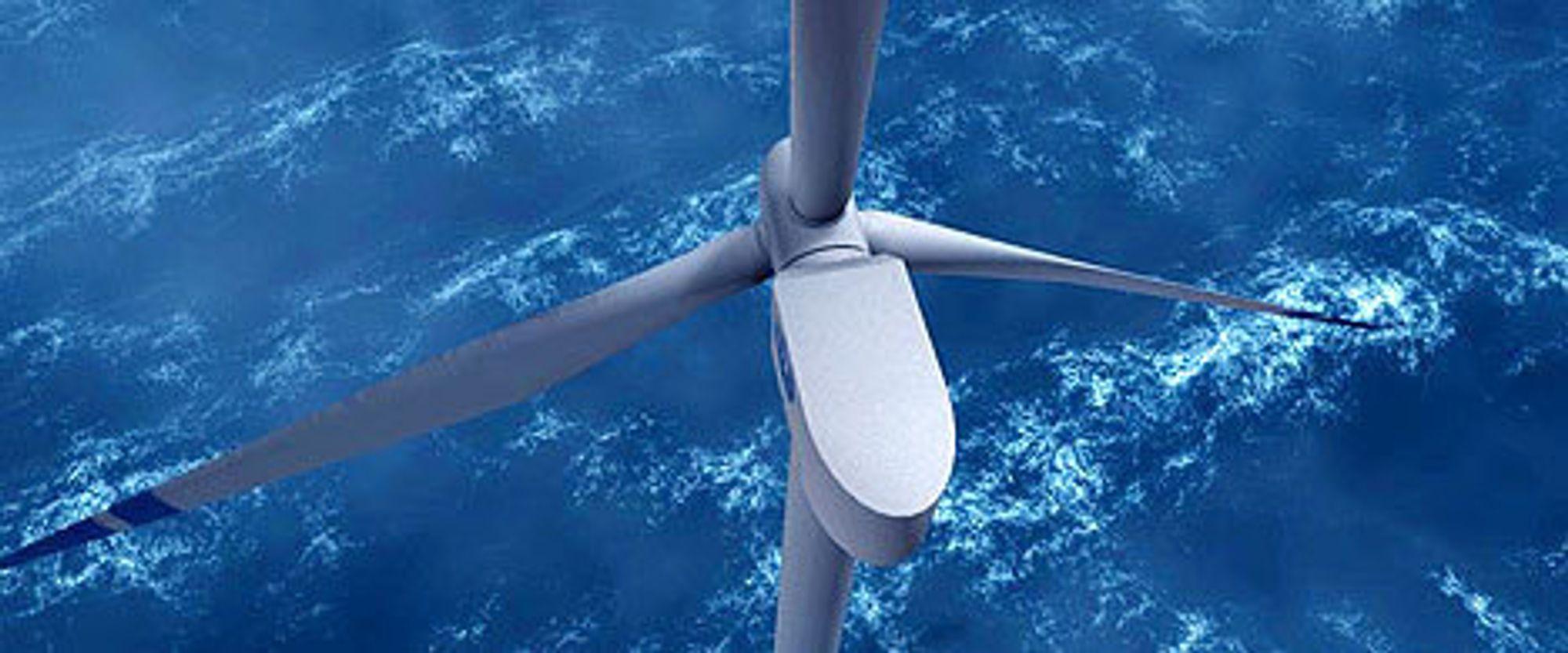 Nå kommer første vindturbin til havs